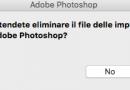 Risolvere i problemi di avvio di Photoshop
