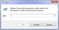 Comando Esegui Windows