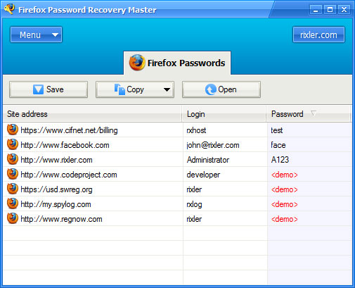 Come recuperare le password salvate su firefox