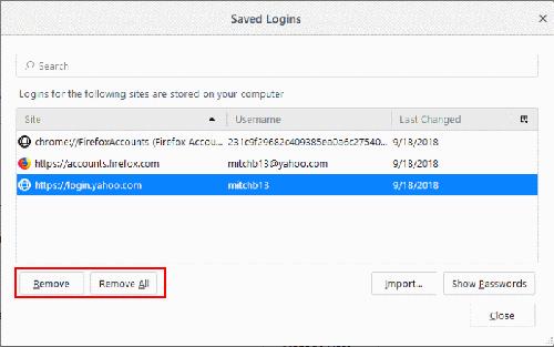 Recuperare password salvate su firefox