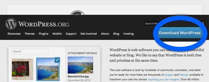 Istallare wordpress step 1