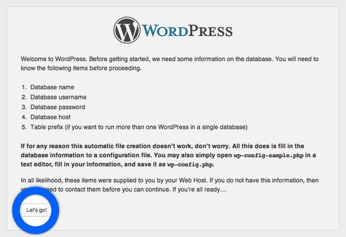 Istallare wordpress step 5
