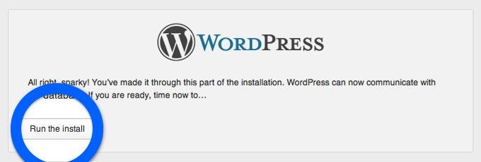 Istallare wordpress step 6
