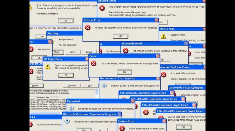 Risolvere errori windows