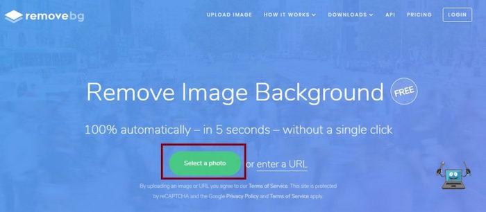 Rimuovere sfondo immagine con Remove.bg